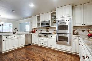 off white kitchen cabinets with white appliances kitchen With kitchen images with white cabinets