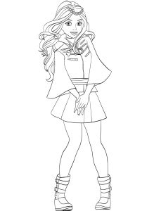 evie coloring page  cartoon series coloring pages
