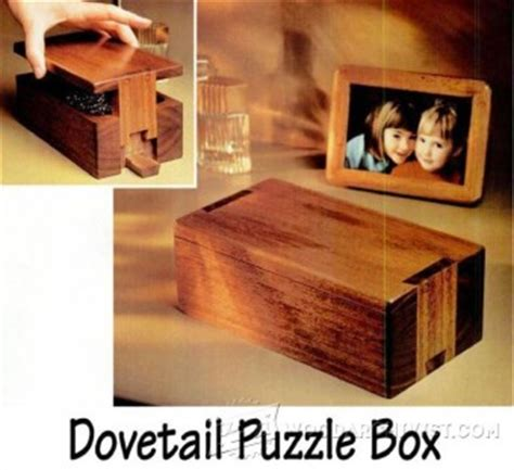puzzle box plans woodarchivist