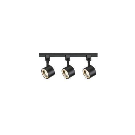black led track lighting kits filament design 4 ft black integrated led track lighting
