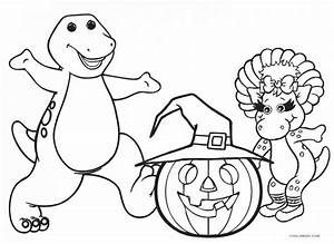 Barney Coloring Pages Christmas Color By Number. Barney ...