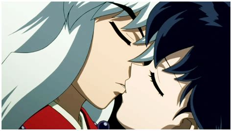 Kiss Anime Mobile Inuyasha Inuyasha And Kagome First Kiss By Irinath On Deviantart