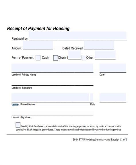 lease receipt templates  sample  format