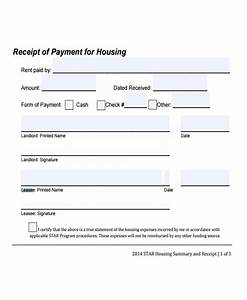 9 Lease Receipt Templates Free Sample Example Format