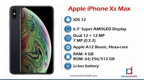 apple iphone xs max price in bangladesh specification review draft