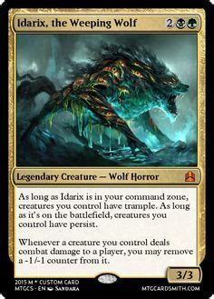 idarix  weeping wolf magic  gathering cards