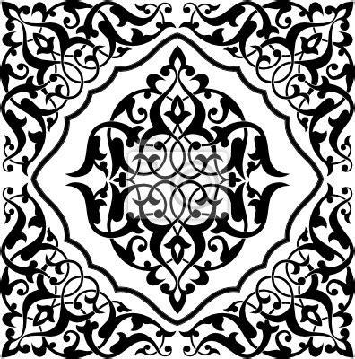 papier peint arabesque tile black and white couverture