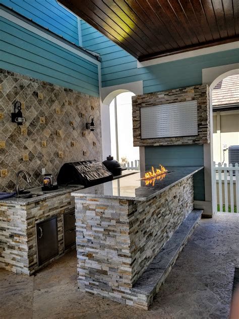 big green egg creative outdoor kitchens  florida