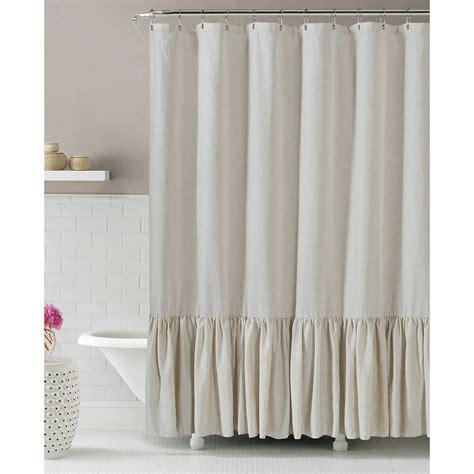 gabriella linen shower curtain at home