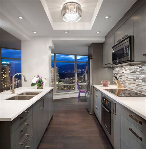 modern cabinets kitchen vancouver bc sleek downtown condo contemporary 4189