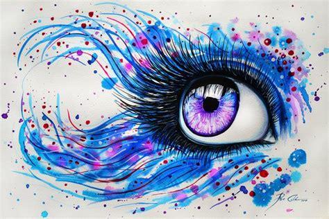 aakash design studio color eye drawing eye art