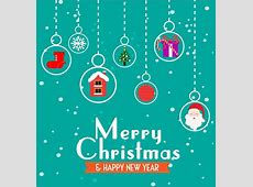 Christmas banner template hanging symbols elements style