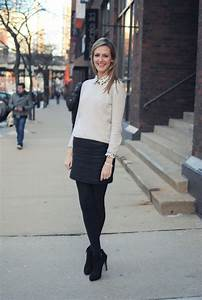 Black tights making short skirts work appropriate all winter long!   Just My Style   Pinterest ...