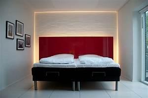 Tete De Lit Rouge : t te de lit lumineuse pour un clairage doux et po tique voir ~ Teatrodelosmanantiales.com Idées de Décoration