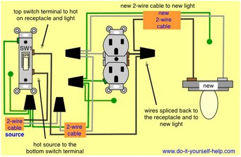 Wire Schematic Switch Schematic Combo Diagram Power To Constant by Wiring Diagram To Add A Light Fixture To A Switched