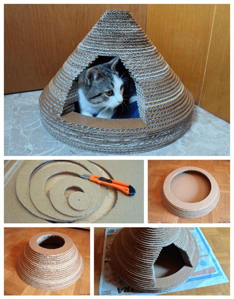 cabane pour chat 5 cabanes en 224 fabriquer que vos chats vont appr 233 cier