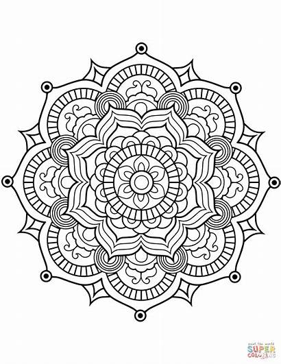 Mandala Coloring Pages Flower Printable Adults Designs