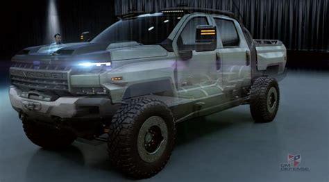 gm defense chevrolet silverado zh concept top speed