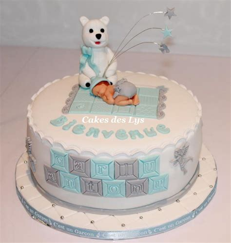 gateau pate a sucre naissance garcon baby shower cupcake