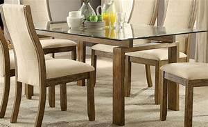 onway oak rectangular glass top dining room set cm3461t With glass top dining room tables rectangular