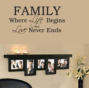 quotes about family wall vinyl quotesgram With family lettering wall art