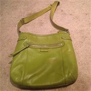 lime green coach handbag on Poshmark