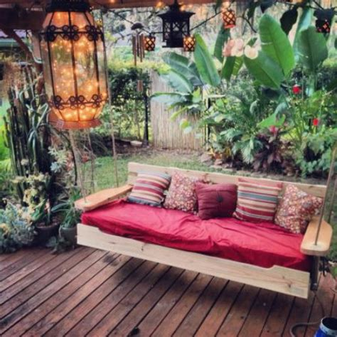exciting outdoor diy brilliant swinging benches