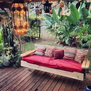 Exciting Outdoor Diy  Brilliant Swinging Benches For