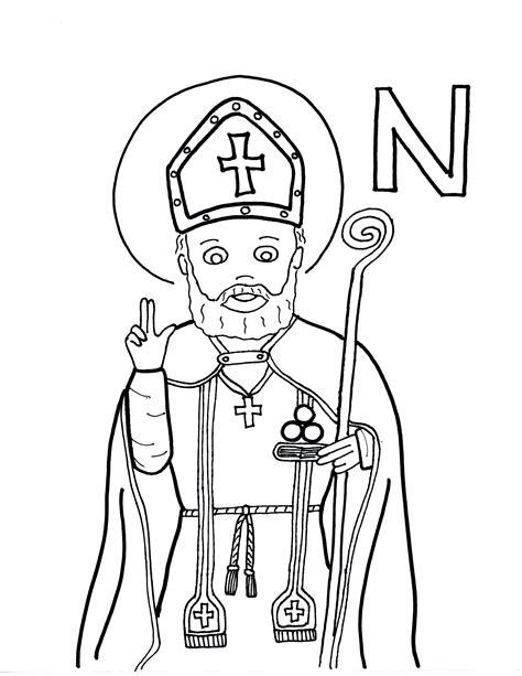 N Is For St Nicholas Saints To Color