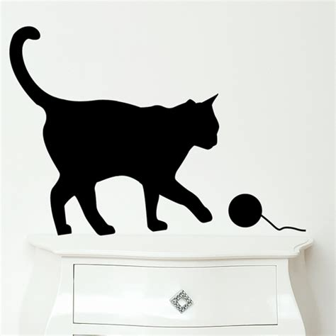 funny wall stickers  cat  bird lovers digsdigs