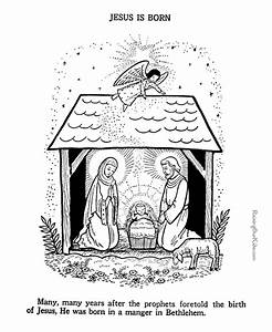 Baby Jesus Nativity Coloring Page To Print 045
