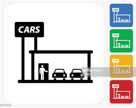 Car Dealership Icon Flat Graphic Design Stock Illustration