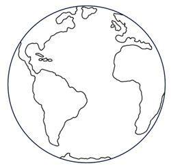 black  white drawing   cartoon earth   globe
