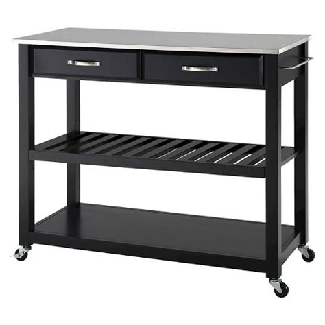 kitchen island cart with stools stainless steel top kitchen cart island with optional 8157