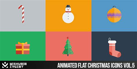 classic christmas motion background animation perfecty loops animated chrostmas icons vol 5 elements after effects