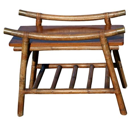 vintage bamboo side table 2 vintage chinese bamboo side table ebay