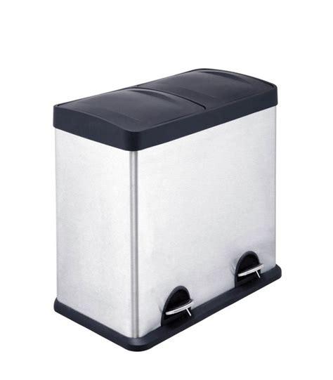 bac poubelle cuisine poubelle de cuisine de tri à compartiments en inox