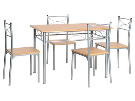 table et chaise conforama ensemble table 4 chaises sernan coloris gris hêtre