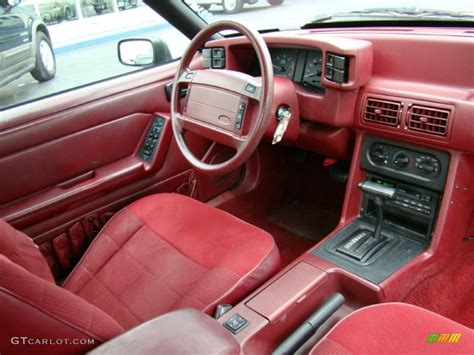 red interior  ford mustang lx convertible photo