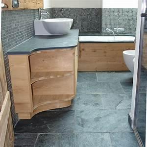 dalles carrelage quartzite gris platinium 60x40 indoor With dalle bois salle de bain