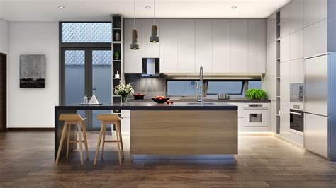 Kitchen Interior Designs by Minimalist Kitchen Designs Decorated With A Wooden Accent