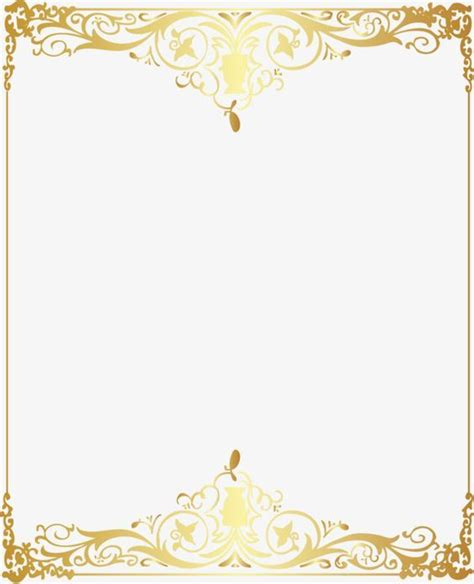 vector gold pattern frame vector golden pattern png