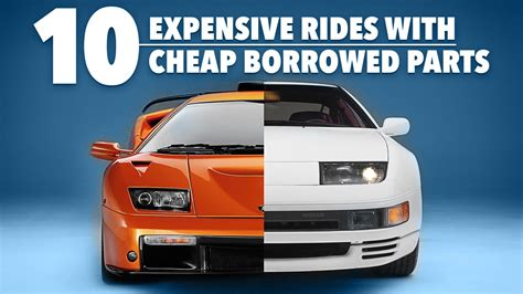 10 Expensive Rides With Parts Borrowed From Cheap Cars