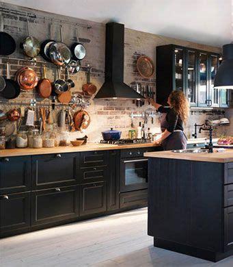 cuisine ikea noir cuisine avec faces de tiroir et portes brun noir et portes