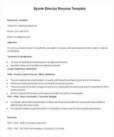 sports director resume template free sles exles