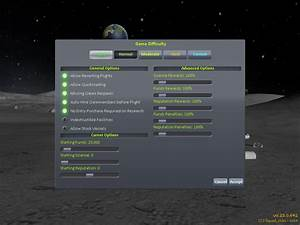 kerbal space program - What do all these difficulty ...