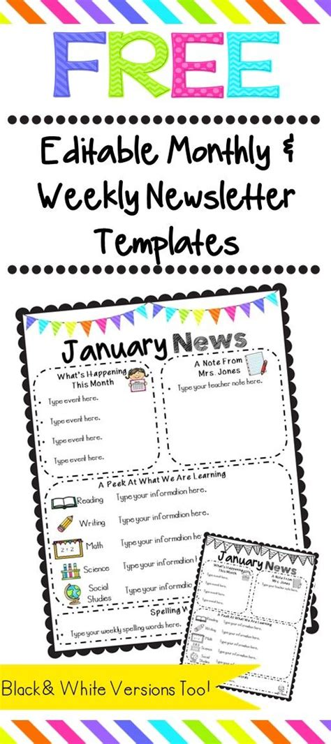 free editable newsletter templates 25 b 228 sta id 233 erna om kindergarten newsletter p 229