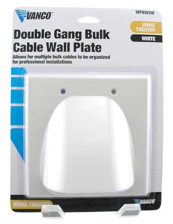 passe cable tv mural vanco flat panel tv bulk cable wall plate