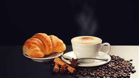 coffee food beans croissants pastries wallpaper