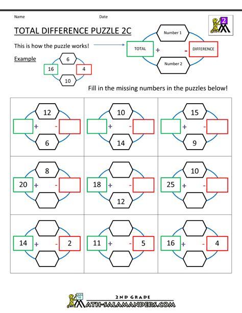 math puzzles addition  subtraction